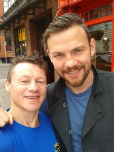 Oisin pictured with his friend and World Champion Andy Lee
